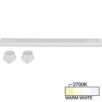 White Closet Rod, Warm White 2700k View 2