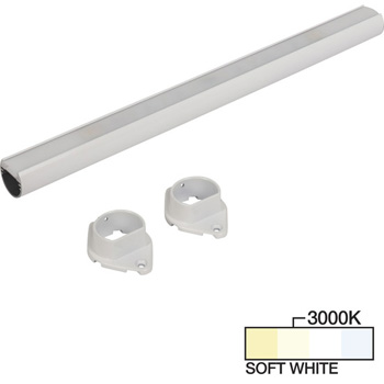 """Task Lighting sempriaLED® LC9R Series 18"""" to 90"""" White LED Lighted Closet Rod Fixture, Soft White 3000k"""