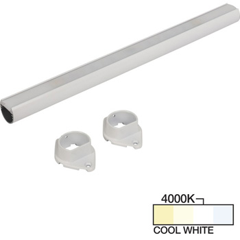 """Task Lighting sempriaLED® LC9R Series 18"""" to 90"""" White LED Lighted Closet Rod Fixture, Cool White 4000k"""