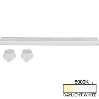 White Closet Rod, Daylight White 5000k View 1