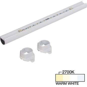 White Closet Rod, Warm White 2700k View 1