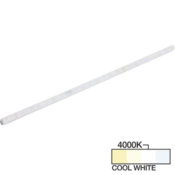 """Task Lighting sempriaLED® A Series Model SA9 6-3/4"""" to 48-3/4"""" Angled Mini Strip Light Frosted Fixture, Medium - Higher Light Output, Cool White 4000k"""