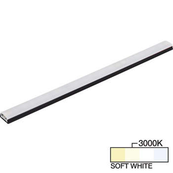 "Task Lighting sempriaLED® SG9 Series 6"" - 48"" LED Strip Light Fixture, Higher Light Output, Black Mount, Soft White 3000K"