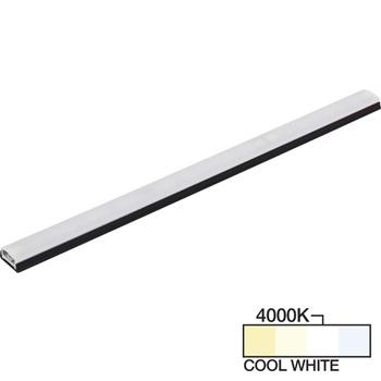 "Task Lighting sempriaLED® SG9 Series 6"" - 48"" LED Strip Light Fixture, Higher Light Output, Black Mount, Cool White 4000K"