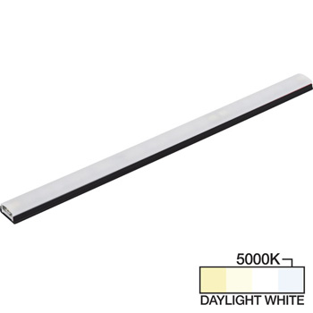 "Task Lighting sempriaLED® SG9 Series 6"" - 48"" LED Strip Light Fixture, Higher Light Output, Black Mount, Daylight White 5000K"