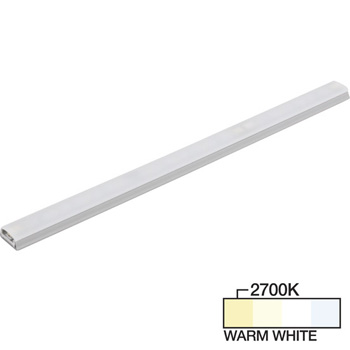 "Task Lighting sempriaLED® SG9 Series 6"" - 48"" LED Strip Light Fixture, Higher Light Output, Grey Mount, Warm White 2700K"