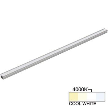 "Task Lighting sempriaLED® R Series Model SR9 7-5/8"" - 49-5/8"" Length LED Recessed Strip Light Fixture, Medium - Higher Light Output, Cool White 4000k"