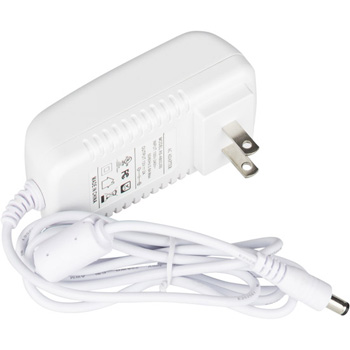 """Task Lighting Plug-In Power Supply with Constant Voltage, 24 Watts, 12V DC, White, 3-11/16"""" W x 1-7/8"""" D x 1-5/16"""" H"""
