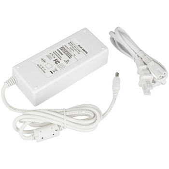 """Task Lighting Plug-In Power Supply with Constant Voltage, 96 Watts, 12V DC, White, 5-1/2"""" W x 2-3/8"""" D x 1-3/8"""" H"""