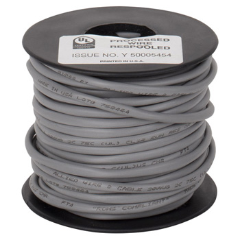 """Task Lighting sempriaLED® 50' Foot Spool 20/2 AWG Solid Connection Wire, 20 Gauge, 50' x 9/64"""" Diameter"""