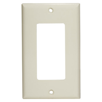 "Task Lighting Decora Style Wall Plate, Almond, 2-1/2"" W x 4-1/2"" H"