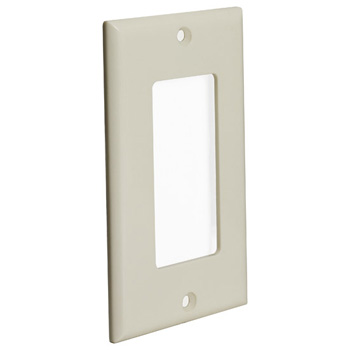 Decora Style Wall Plate, Almond Angle View