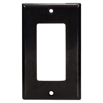 "Task Lighting Decora Style Wall Plate, Black, 2-1/2"" W x 4-1/2"" H"