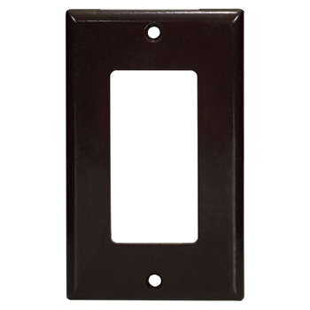 """Task Lighting Decora Style Wall Plate, Brown, 2-1/2"""" W x 4-1/2"""" H"""