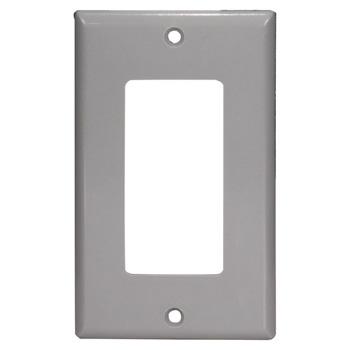 "Task Lighting Decora Style Wall Plate, Grey, 2-1/2"" W x 4-1/2"" H"