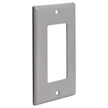 Decora Style Wall Plate, Grey Angle View