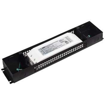 "Task Lighting Class 2 LED Hardwired Dimmable Power Supply, 60 Watt, 12V DC, 13-3/4"" W x 3"" D x 1-5/8"" H"