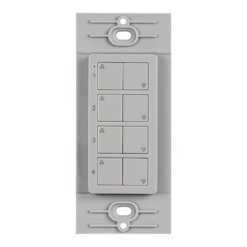 "Task Lighting illumaLED™ Quattro Series Wireless 4-Zone Quattro LED Controller in Grey, 1-5/16"" W x 3/8"" D x 2-5/8"" H"