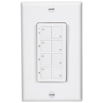 4-Zone Quattro LED Controller White Product View