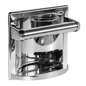 Taymor Sunglow Collection Cement In Recessed Soap Holder With Utility Bar Polished Chrome Finish