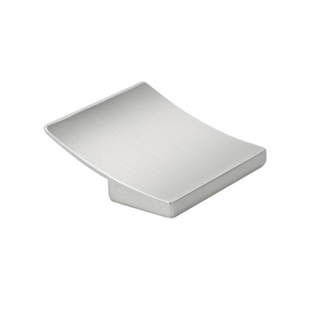 Topex Curved Square Pull in Satin Nickel