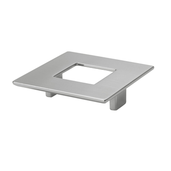 Topex Square Pull with Hole in Polished Satin Nickel