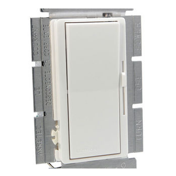 Tresco by Rev-A-Shelf Lutron Diva C-L Dimmer with HED Technology, without Face Plate, White