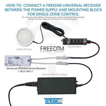 Tresco by Rev-A-Shelf FreeDIM Series 12VDC Universal 60W Receiver