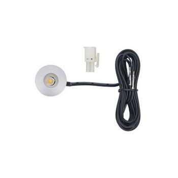 Tresco 12VDC Pockit Point 1W Mini-Spot/Eye LED Light, 5000K, Nickel