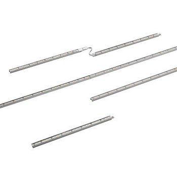 "Tresco 12VDC FineLine LED Linkable 12"" Single Stick, 2.4W/Ft., 5000K, Nickel, with 79"" Starter Lead"