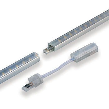 "Tresco by Rev-A-Shelf 12VDC FineLine LED Linkable 22"" Single Stick, 2.4W/Ft.,Nickel"
