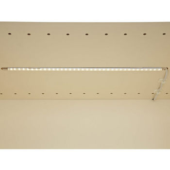 "Tresco by Rev-A-Shelf 12VDC FineLine LED Linkable 12"" Single Stick, 2.4W/Ft., Nickel"
