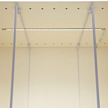 "Tresco by Rev-A-Shelf 12VDC FineLine LED Linkable 22"" Single Stick, 2.4W/Ft.,Nickel"