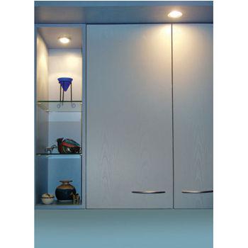 Tresco by Rev-A-Shelf 12VDC Pockit Plus LED Metal Light, Frosted, 1.5W