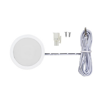 Tresco 3W 5000K White LED Pockit w/Surface Mount Ring, Frosted Glass