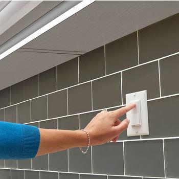 Tresco by Rev-A-Shelf FREEDiM Series 12VDC Deco Wireless Wall Dimmer, White, w/ Housing