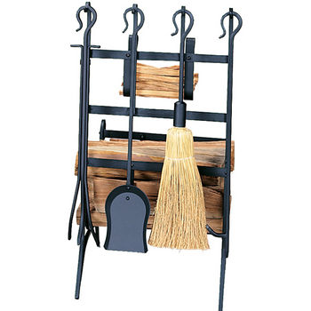 Log & Kindling Rack with Firetools