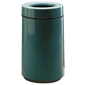 Trash Cans Un Fgfg1630tpl 15 Gallon Round Open Top Trash