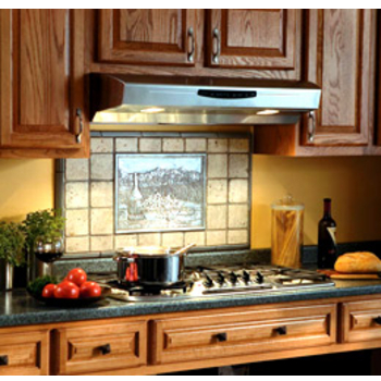 rustic hoods range kitchen