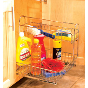 Under Sink Cabinet Organizers Storage Pull Out Shelves In Chrome And Metal Wire At Accessories Unlimited
