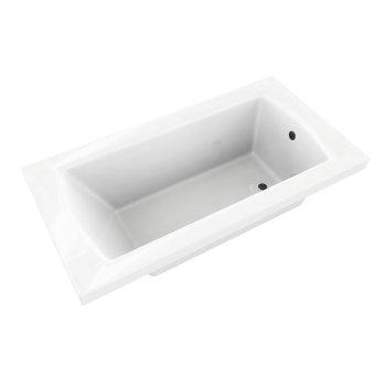 "Valley Acrylic OVO 60"" W x 36"" D Contemporary White Rectangular Acrylic Drop-In Bathtub, 60"" W x 36"" D x 20"" H"