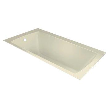 "Valley Acrylic OVO 60"" W x 36"" D Contemporary Biscuit Rectangular Acrylic Undermount Bathtub, 58"" W x 35"" D x 20"" H"