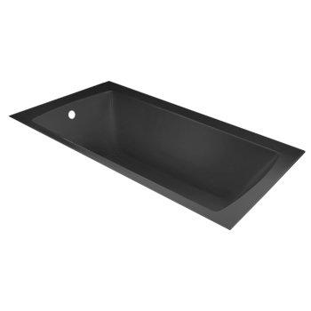"Valley Acrylic OVO 60"" W x 36"" D Contemporary Black Rectangular Acrylic Undermount Bathtub, 58"" W x 35"" D x 20"" H"