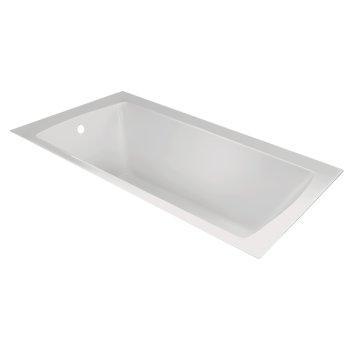 "Valley Acrylic OVO 60"" W x 36"" D Contemporary White Rectangular Acrylic Undermount Bathtub, 58"" W x 35"" D x 20"" H"