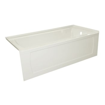 """Valley Acrylic OVO 66"""" W x 30"""" D Biscuit Acrylic Bathtub with Decorative Integral Skirt, Right Hand Drain, 66"""" W x 30"""" D x 20"""" H"""