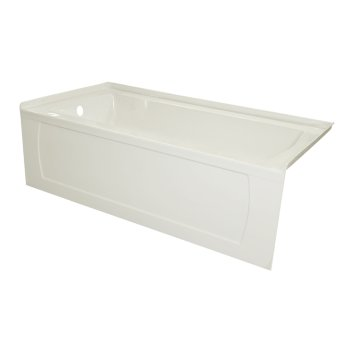 """Valley Acrylic OVO 66"""" W x 32"""" D Biscuit Acrylic Bathtub with Decorative Integral Skirt, Left Hand Drain, 66"""" W x 32"""" D x 20"""" H"""