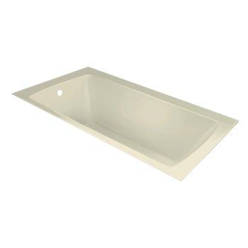 "Valley Acrylic OVO 66"" W x 36"" D Contemporary Biscuit Rectangular Acrylic Undermount Bathtub, 63-1/2"" W x 35"" D x 20"" H"