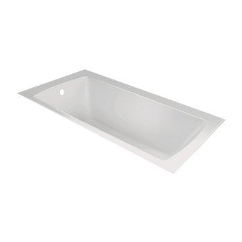 "Valley Acrylic OVO 72"" W x 32"" D Contemporary White Rectangular Acrylic Undermount Bathtub, 69-3/4"" W x 31"" D x 20"" H"