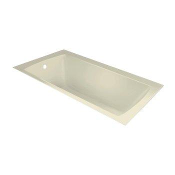 "Valley Acrylic OVO 72"" W x 36"" D Contemporary Biscuit Rectangular Acrylic Undermount Bathtub, 69-1/4"" W x 35"" D x 20"" H"