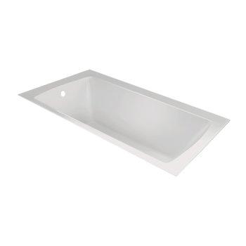 "Valley Acrylic OVO 72"" W x 36"" D Contemporary White Rectangular Acrylic Undermount Bathtub, 69-1/4"" W x 35"" D x 20"" H"
